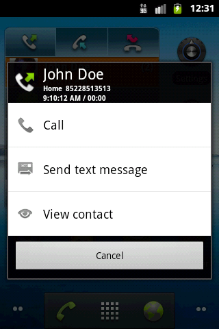 SUI Call Log - Widget_Quick_Contact_Dark